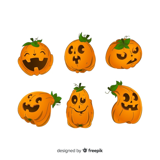 Jack o lantern animated pumpkin for halloween Vector