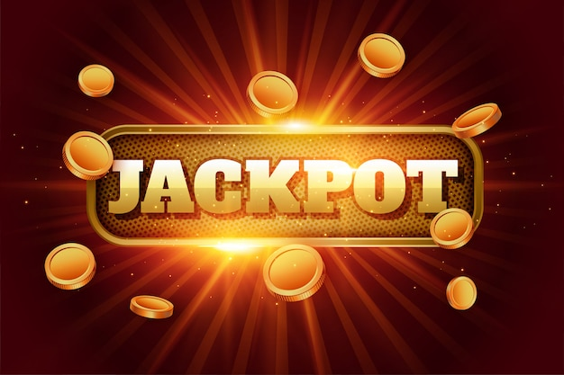Free Vector | Jackpot background with flying golden coins