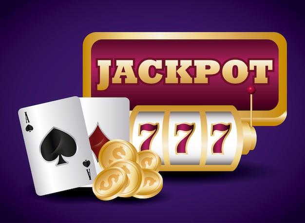 Jackpot and casino Free Vector