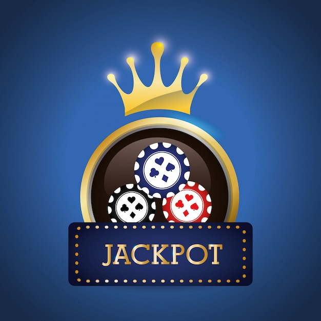 Jackpot design Premium Vector