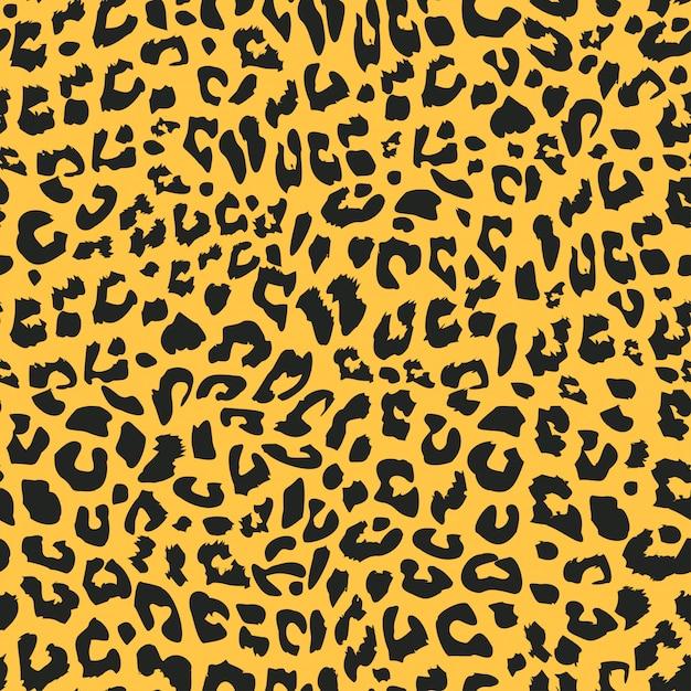 ジャガーまたはヒョウの皮のシームレスパターン Premiumベクター