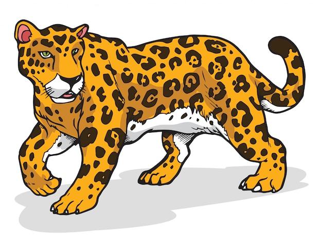 ジャガーのベクトル図 Premiumベクター