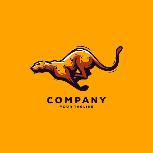 Удивительный логотип jaguar Premium векторы