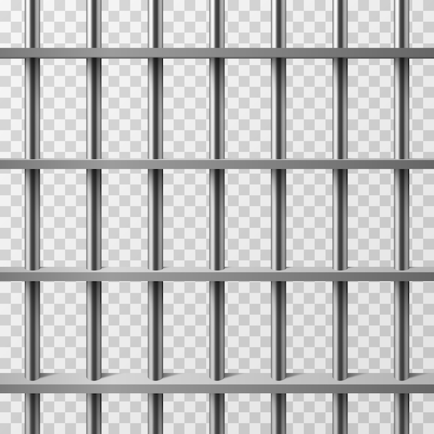 Jail cell bars isolated. prison vector background Premium Vector
