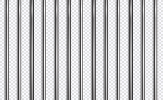 Jail lattice or bars in 3d style Premium Vector