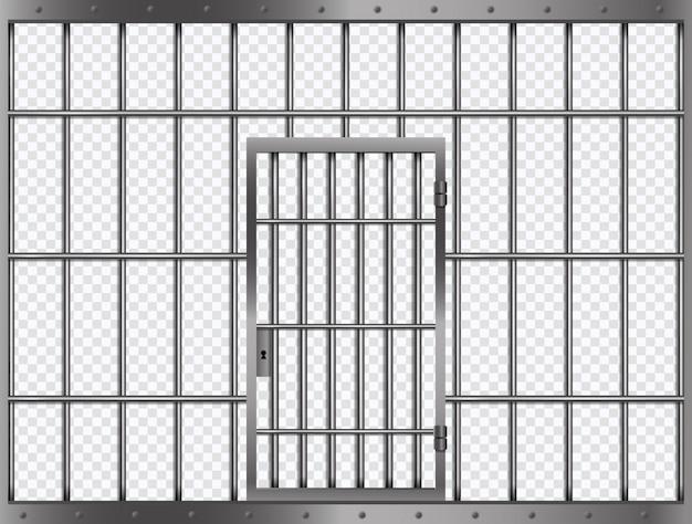 刑務所のドア刑務所のドアと刑務所の格子 Premiumベクター