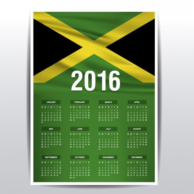 Calendar Jamaica : Jamaica calendar of vector free download