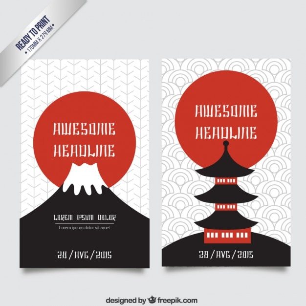Japanese culture brochure Vector | Free Download
