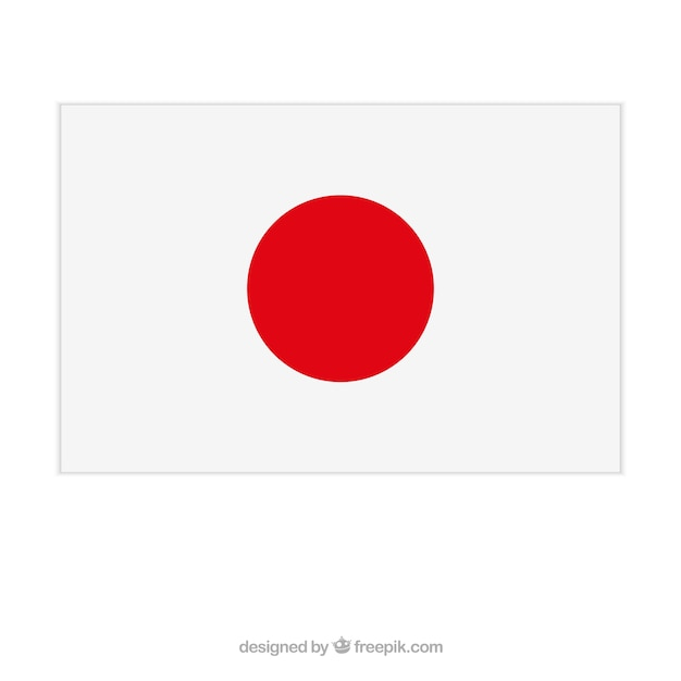 japanese flag vector | free download