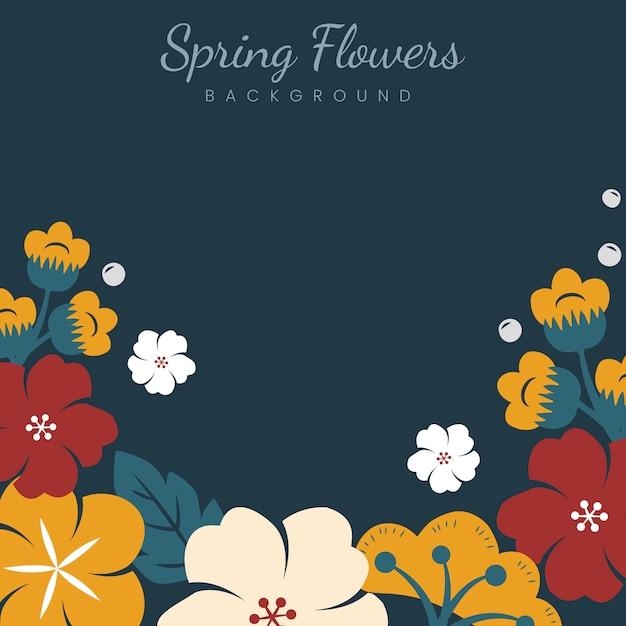Japanese flowers frame Free Vector