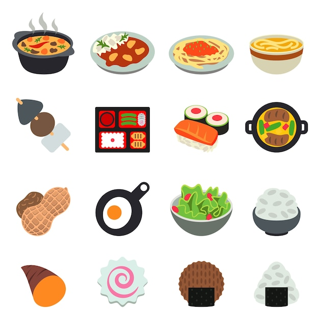 Japanese food cuisine Premium Vector