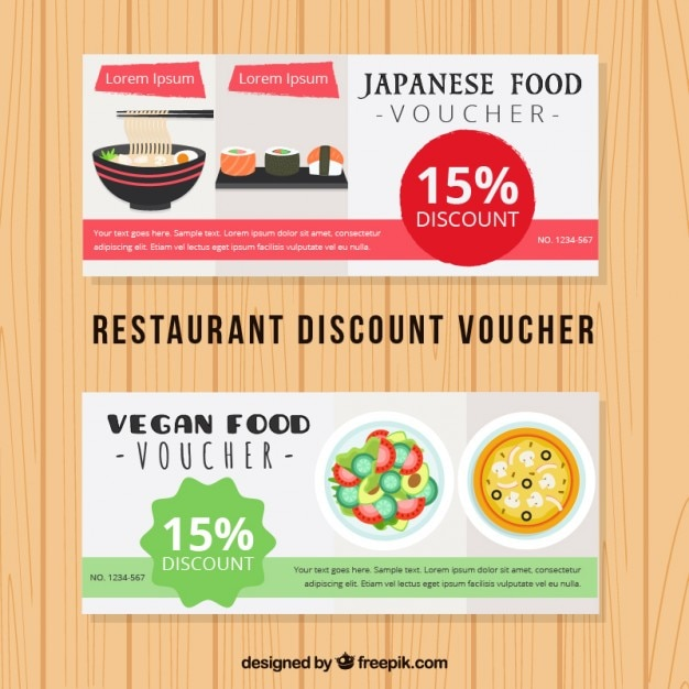 Japanese food discount voucher Vector – Free Discount Vouchers