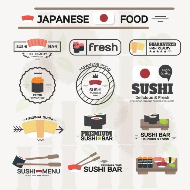 Japanese food labels collection