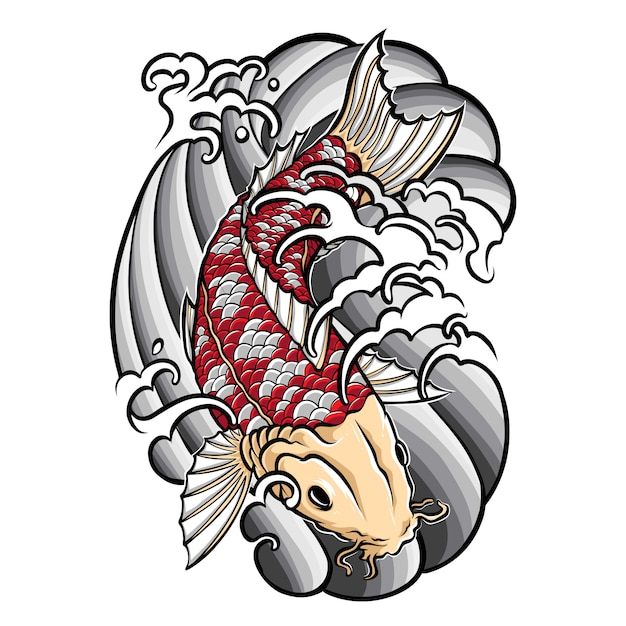 Premium Vector Japanese Koi Fish Tattoo