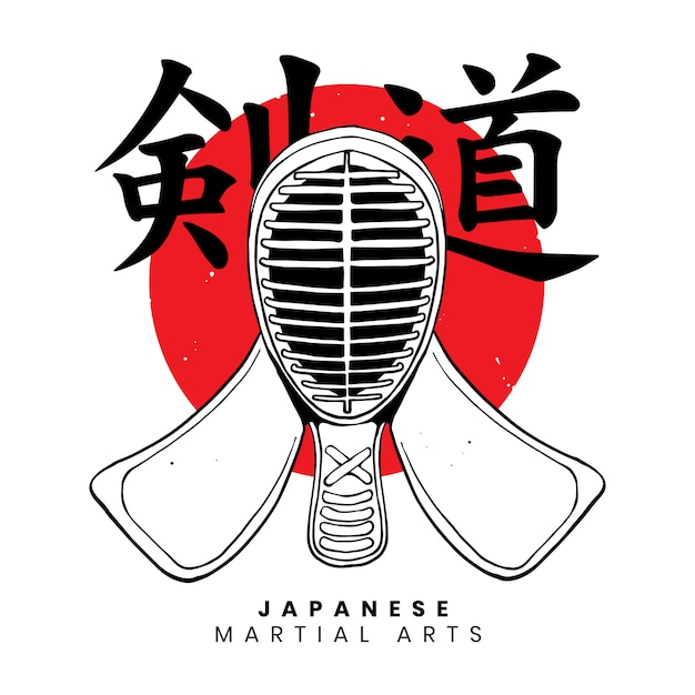 Japanese martial art Premium Vector