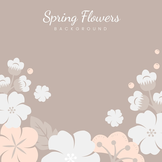 Japanese pastel flowers frame Free Vector