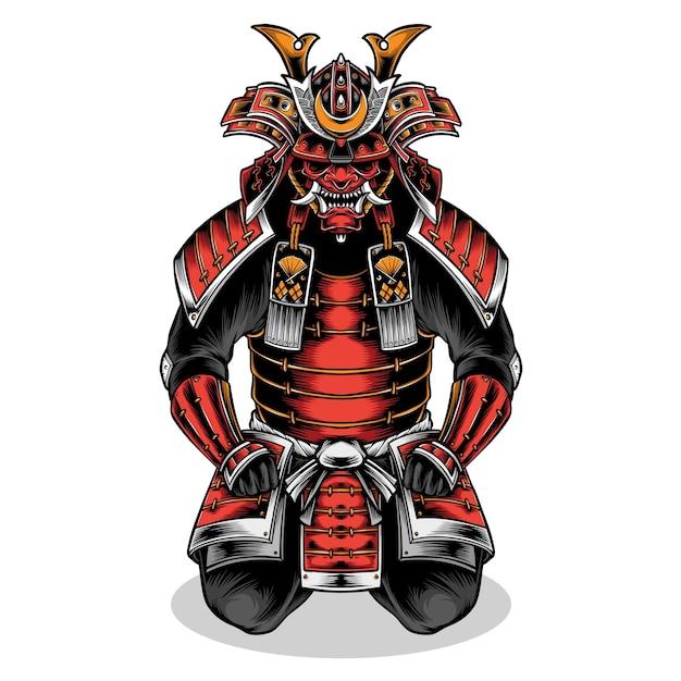 日本の武士の鎧 Premiumベクター