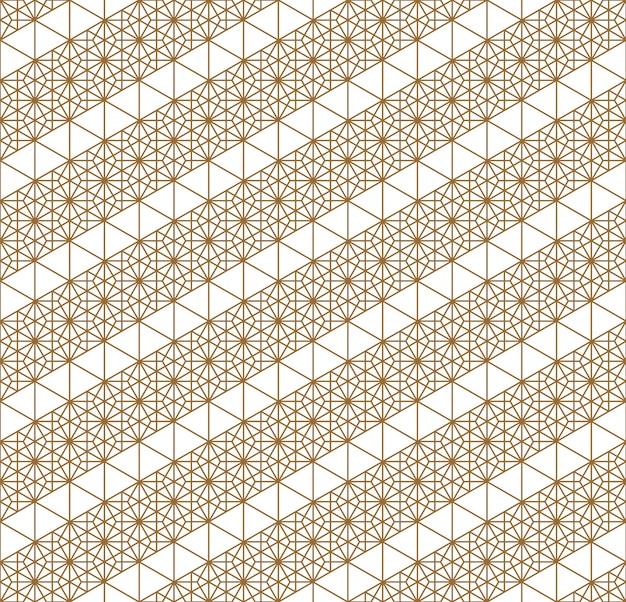 Japanese seamless geometric pattern . Premium Vector