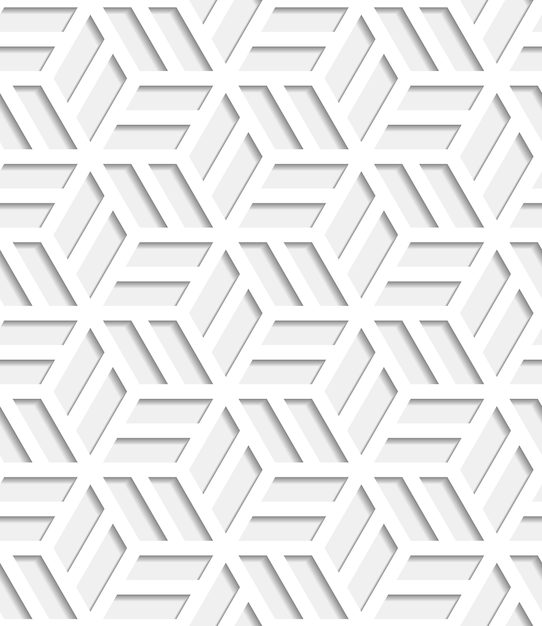Japanese seamless pattern cut out from paper Free Vector