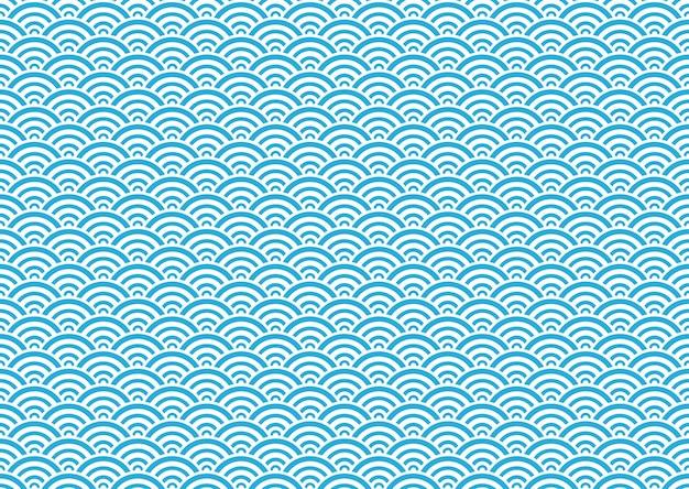 日本のシームレスなベクトルヴィンテージ波パターン 無料ベクター