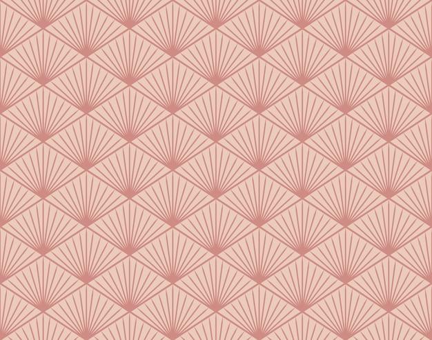 일본식 복고풍 빈티지 원활한 패턴 형상 다각형 선 프리미엄 벡터