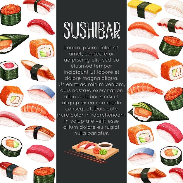 Японский суши-ролл Premium векторы
