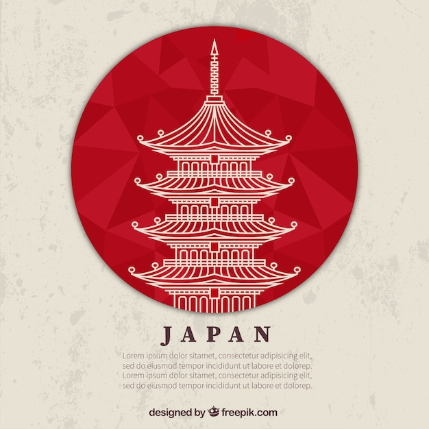 japanese temple vector free download