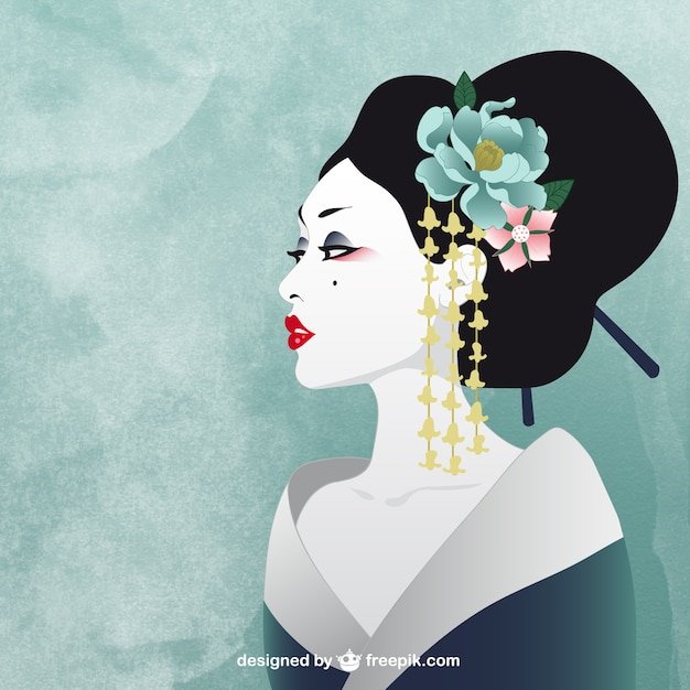 Japanese woman Free Vector