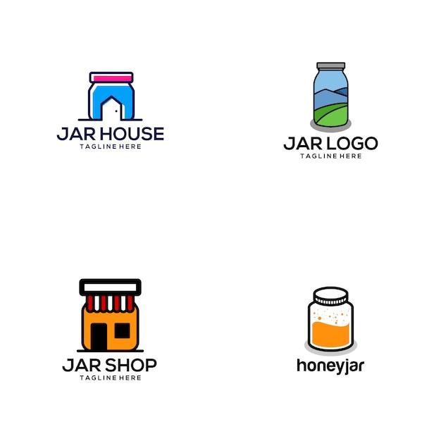 Jar logo Premium Vector
