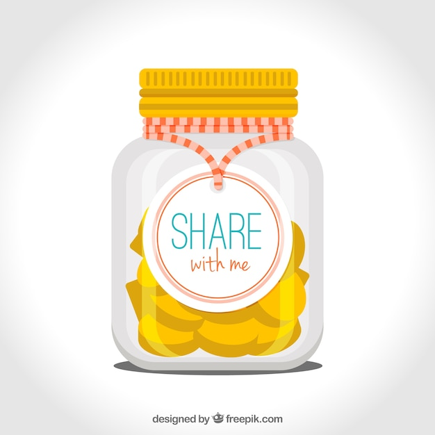 Jar with coins for donation Free Vector
