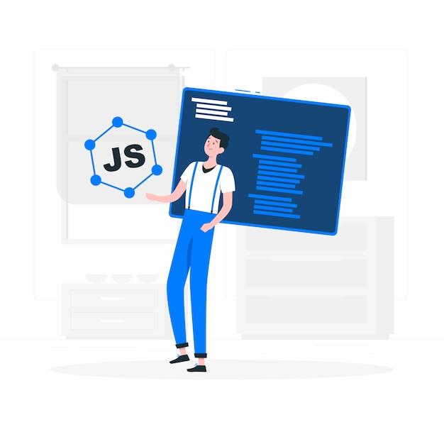 Javascript frameworks concept illustration Free Vector