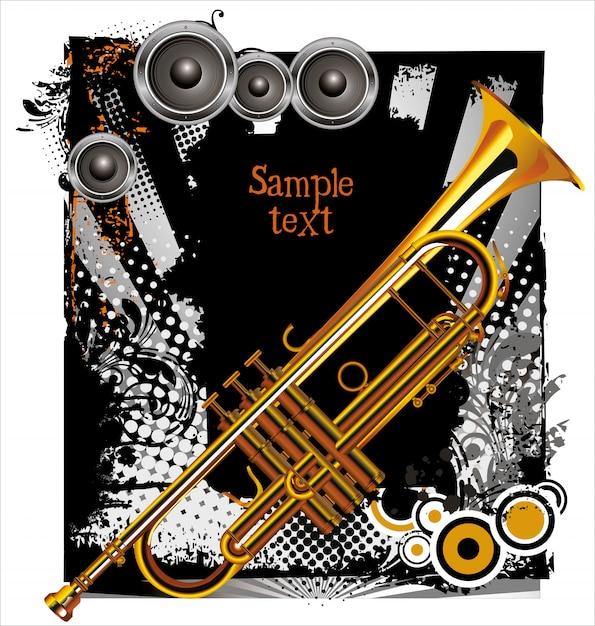 Jazz concert background Premium Vector
