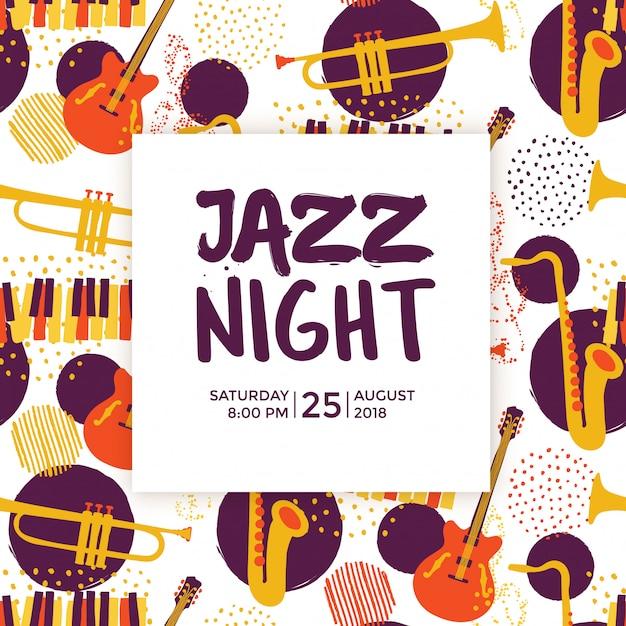 Premium Vector Jazz Event Poster Template