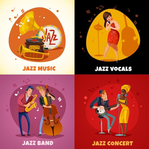 Jazz music  concept Free Vector