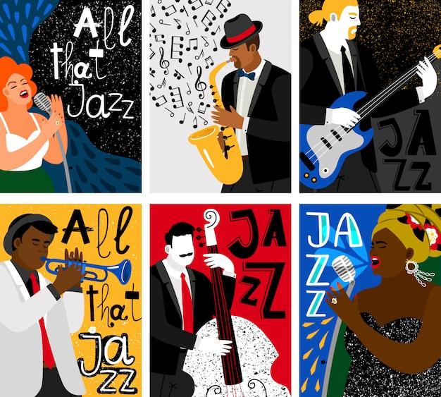Фестиваль джазовой музыки Premium векторы