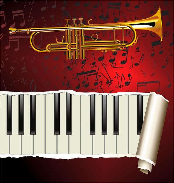 Jazz music label Premium Vector