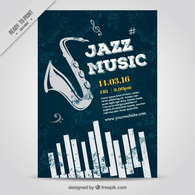 Jazz Music Poster Vector Free Download