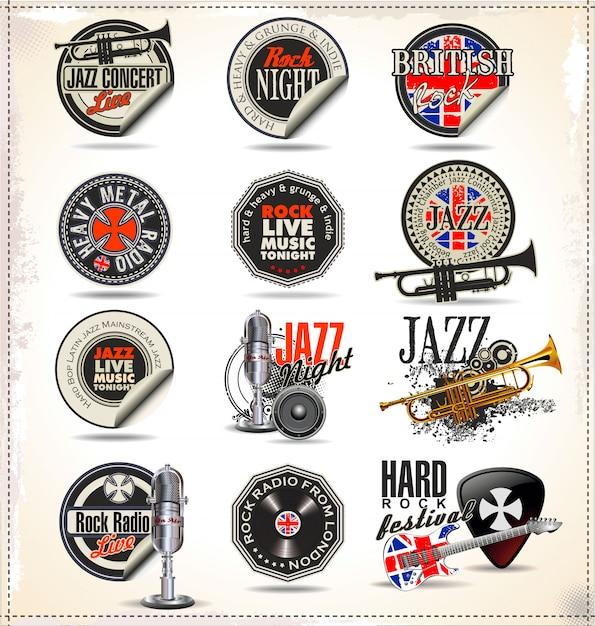 Jazz music Premium Vector