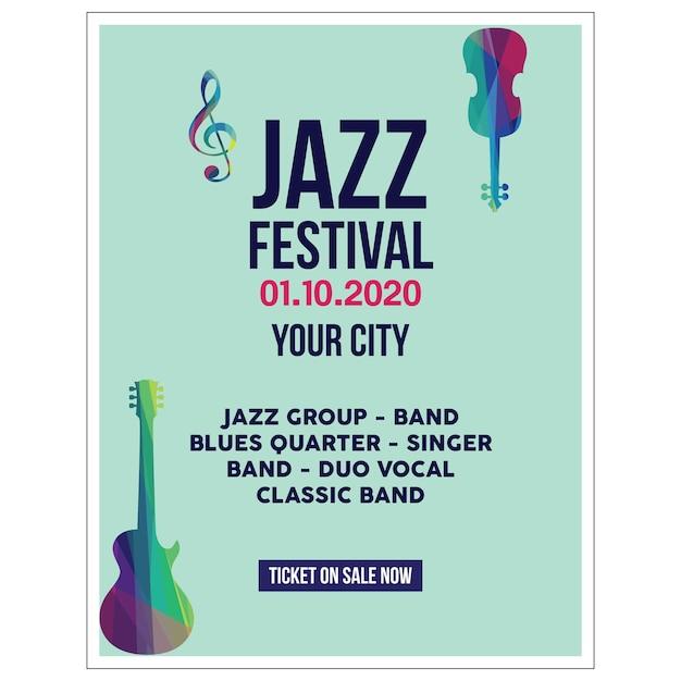 Jazz poster illustration Premium Vector