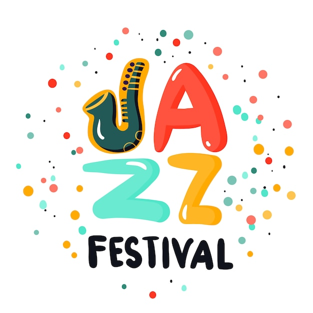 Jazz sign concept Free Vector