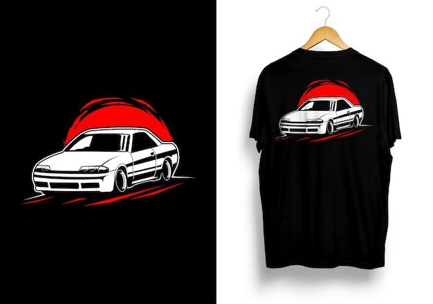 Jdm車イラストtシャツ Premiumベクター