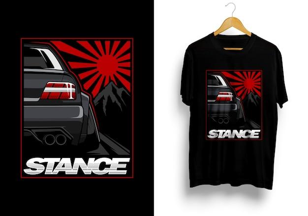Jdm car  illustration tshirt Premium Vector