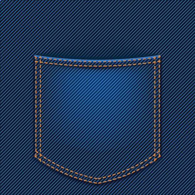 Jeans back pocket Premium Vector