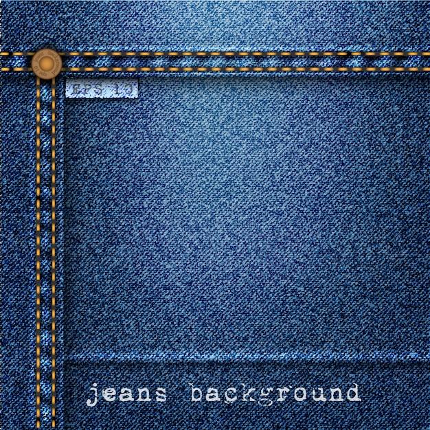 Jeans background Premium Vector