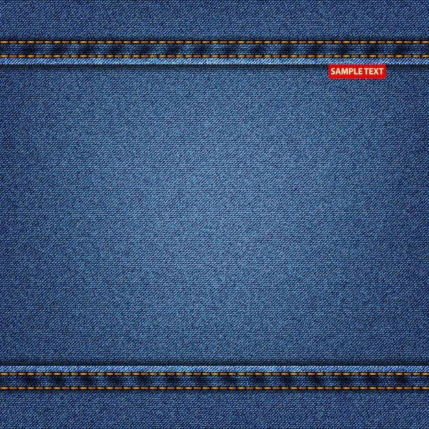 ジーンズテクスチャブルー色、デニムの背景 Premiumベクター