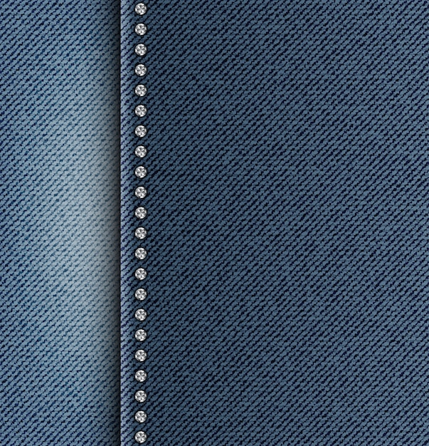Jeans texture with side strip Premium Vector