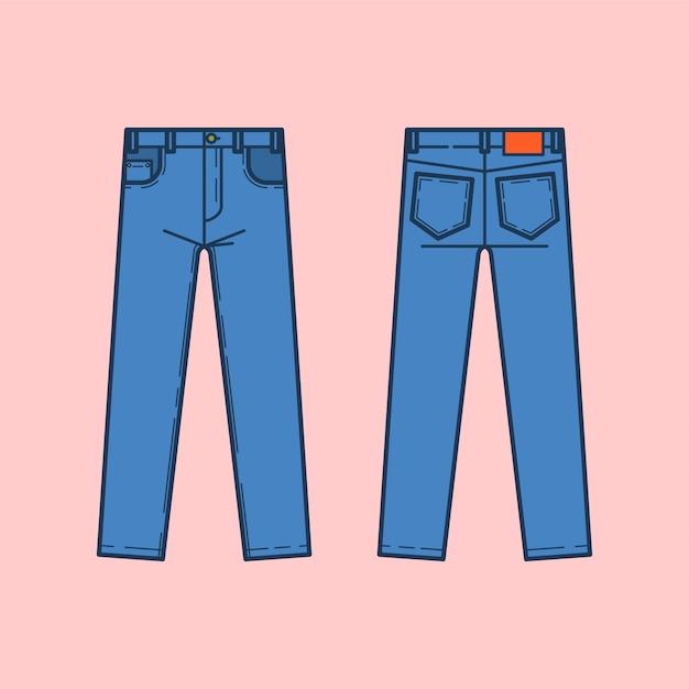 Jeans Premium Vector