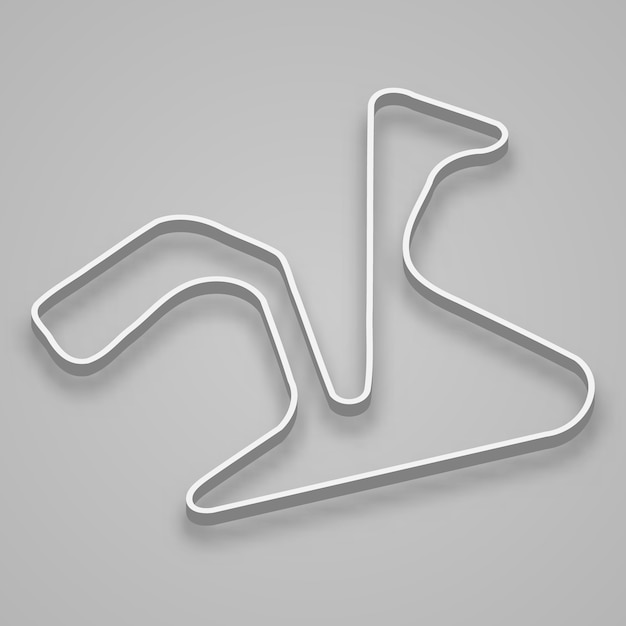 Jerez circuit for motorsport and autosport. spain grand prix race track. Premium Vector