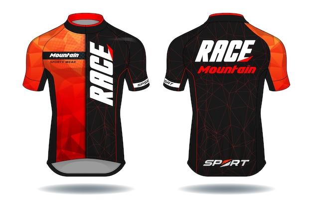 サイクルjersey.sportウェア保護装置ベクトルイラスト。 Premiumベクター