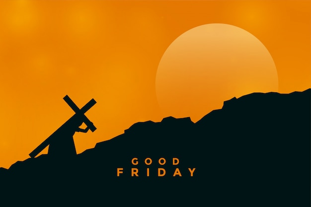Jesus christ carrying cross for his crucifixion Free Vector